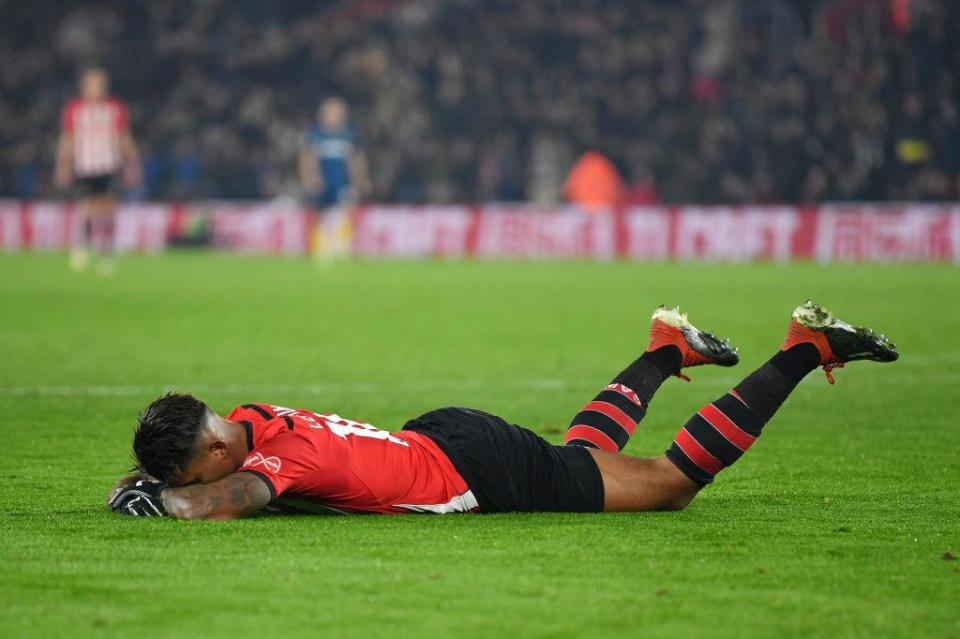 Lemina almost earned Saints a late point